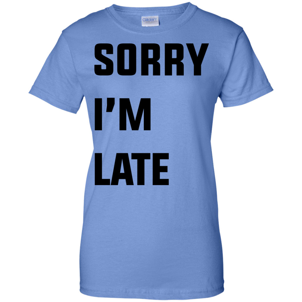Sorry-i'm-late-Ladies-T-Shirt-Sport-Grey-XS-