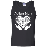 Autism-mom---Autism-heart---Tank-top,-Women's-tank-top-100%-Cotton-Tank-Top-Black-S