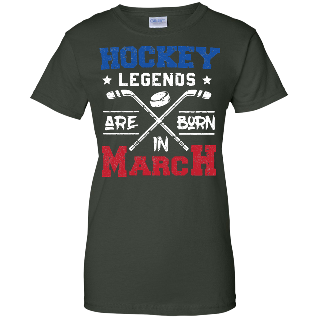 Hockey-Legends-Are-Born-In-March-Birthday-Gift---Men/Women-T-Shirt-Custom-Ultra-Cotton-T-Shirt-Black-S