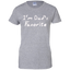 I'm-Dad-Favorite-Ladies-Custom-100%-Cotton-T-Shirt-Sport-Grey-XS-