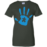 Round-Neck-Autism-Handprint---Men/Women-T-Shirt-Custom-Ultra-Cotton-T-Shirt-Black-S