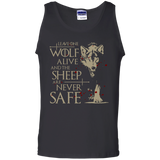 Leave-one-wolf-alive-and-the-sheep-are-never-safe-Tank-Top-Black-S-