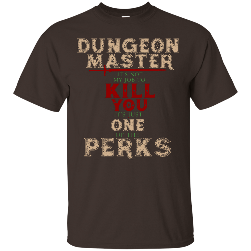 Dungeons-and-Master-It's-Not-My-Job-One-Perks-T-Shirt-Black-S-