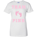Team-Pink-Girl-Baby-Shower-Gender-Reveal-Party-Cute-Funny-Ladies-T-Shirt---Teeever.com-White-XS-