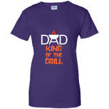Dad-king-of-the-gill-Ladies-Custom-100%-Cotton-T-Shirt-Black-XS-