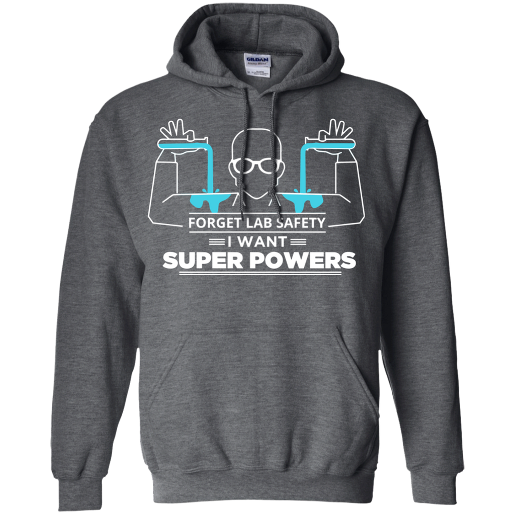 Science---Forget-Lab-Safety-I-Want-Super-Powers-LS/Hoodie/Sweatshirt-LS-T-Shirt-Black-Small