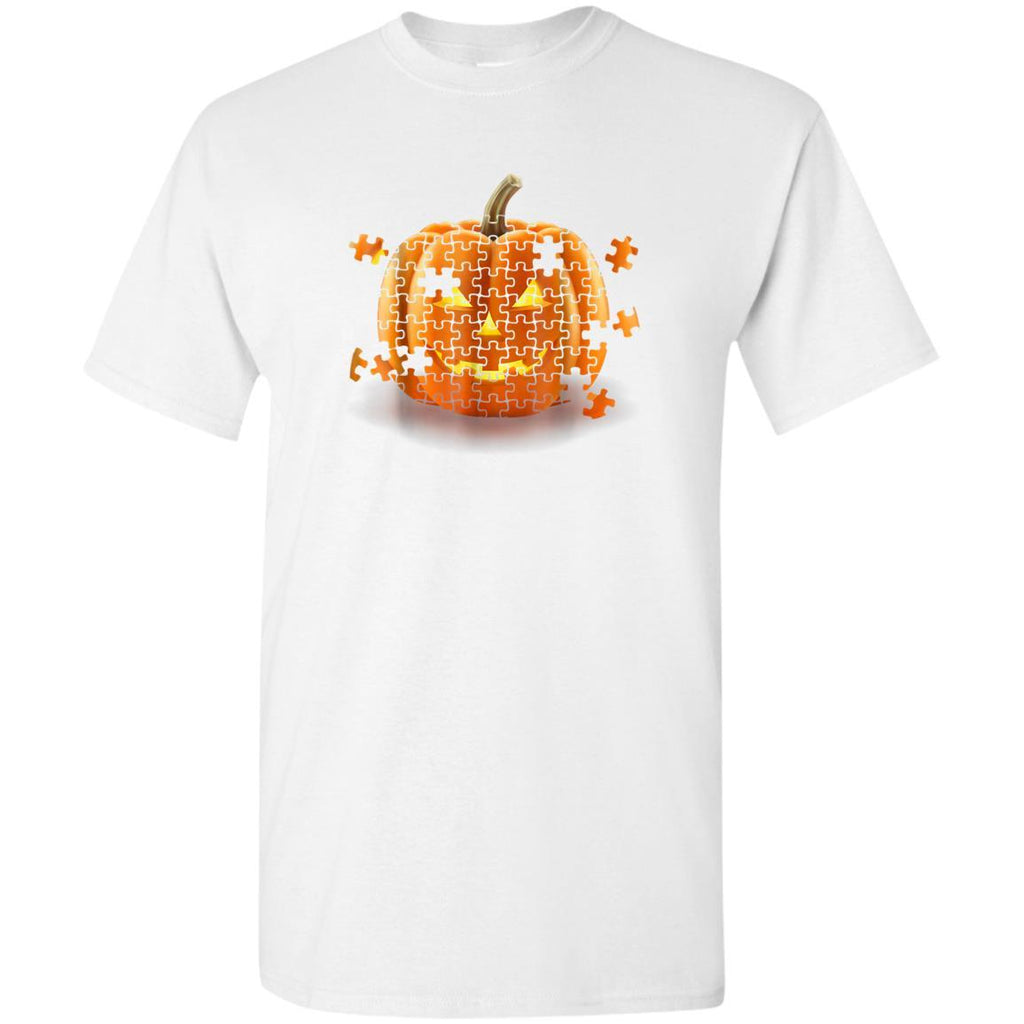 Autism Awareness Pumpkin Piece Puzzle Halloween Youth T-Shirt