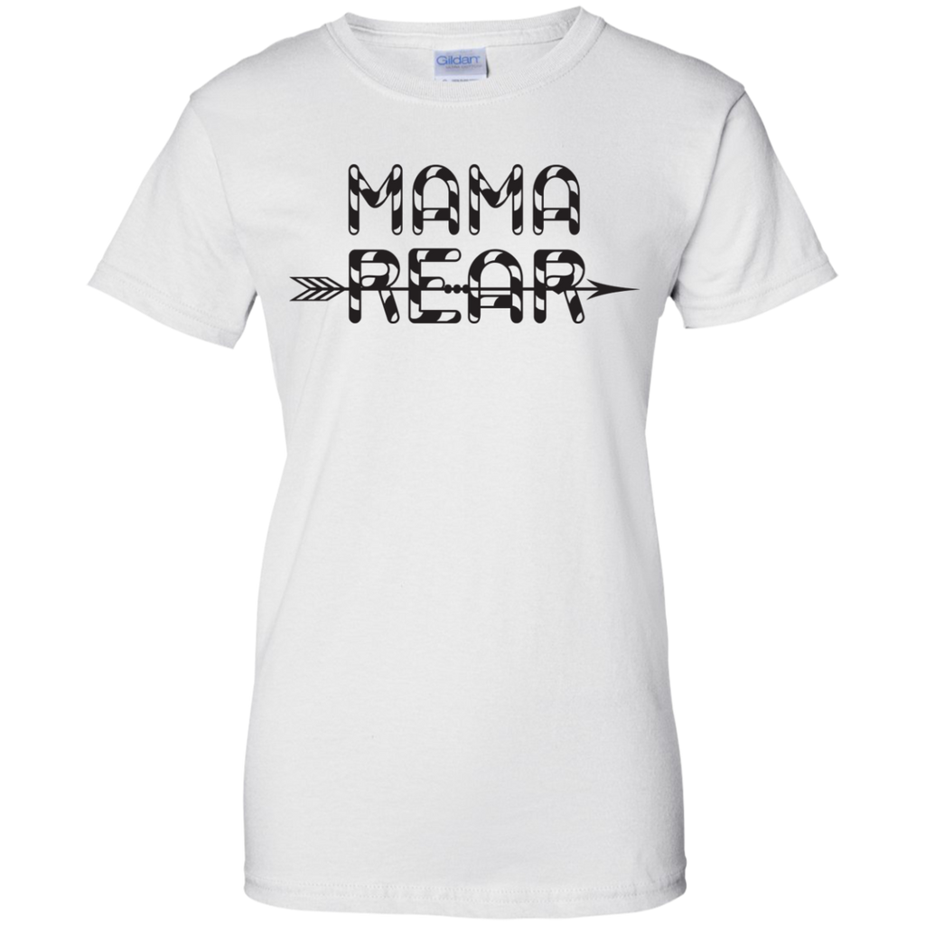Ezcosplay-Women's-Colorblock-Sleeve-Crew-Neck-MAMA-BEAR-Print-Casual-Ladies-T-Shirt---Teeever.com-White-XS-