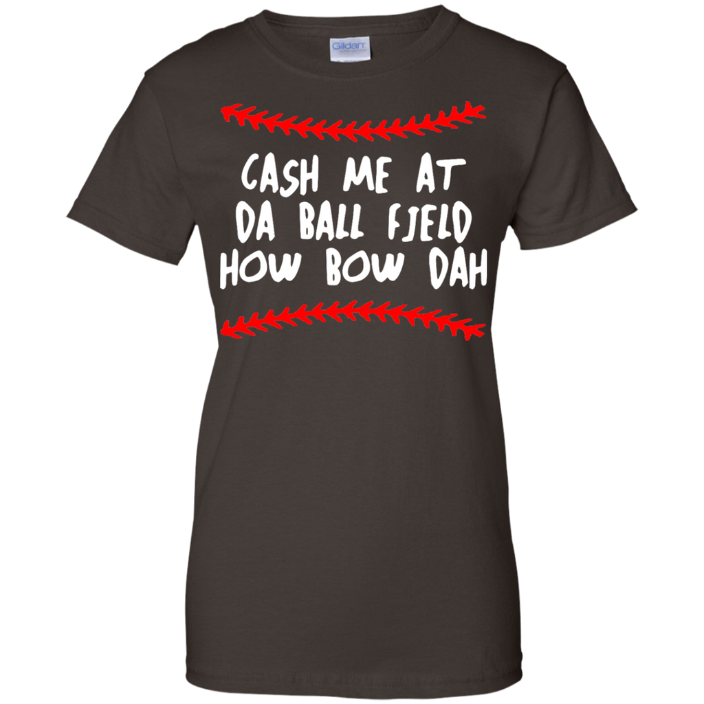 Cash-Me-At-Da-Ball-Field-How-Bow-Dah---Baseball-Softbal---Men/Women-T-Shirt-Custom-Ultra-Cotton-T-Shirt-Black-S