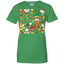 cute-Christmas-pattern-design---funny,-fun-Ladies-T-Shirt-Black-XS-