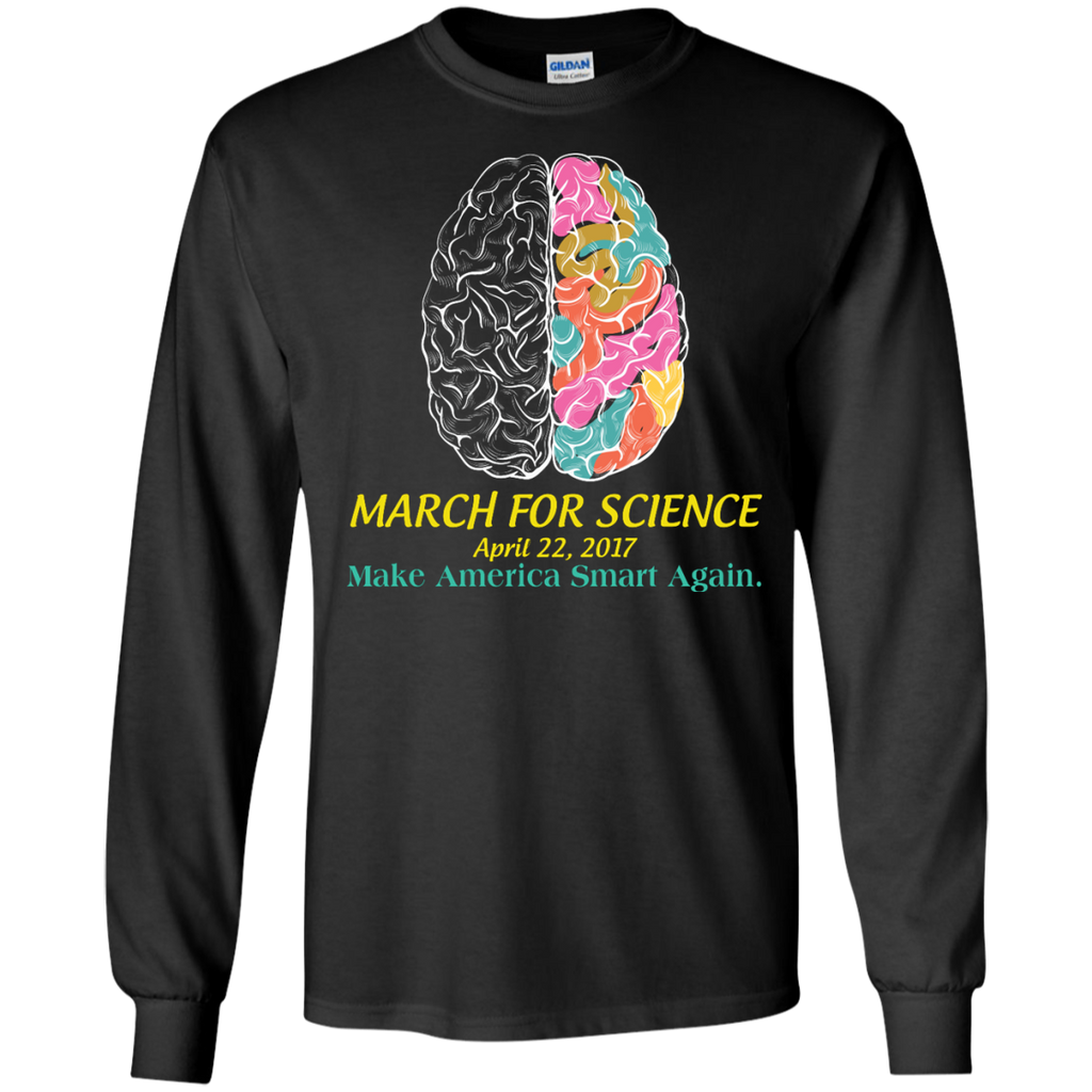 Science-March-2017---Make-America-Smart-Again---LS-shirt,-Hoodie,-Sweatshirt---Teeever-LS-Ultra-Cotton-Tshirt-Black-S