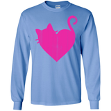 Cute-Heart-Cat-LS-T-Shirt-Sport-Grey-S-