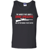 The-hadrest-part-about-a-zombie-apocalypse-100%-Cotton-Tank-Top-Ash-S-