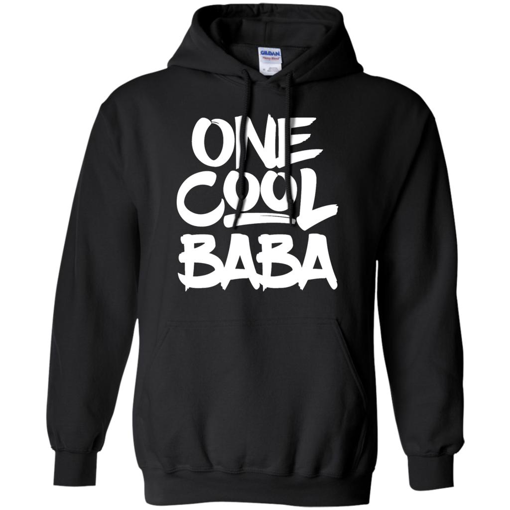 One-Cool-Baba---Grandfather-Dad-Gift-Pullover-Hoodie---Teeever.com-Black-S-