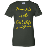 Mom-Life-is-the-best-life---Great-Mother's-and-Father's-Day-Ladies-T-Shirt---Teeever-Black-XS-
