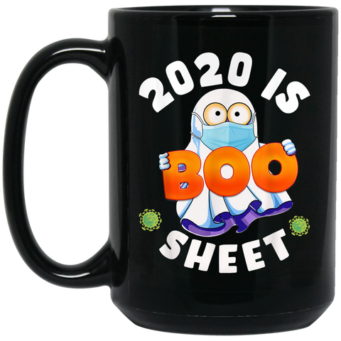 2020 Is Boo Sheet Ghost Halloween Costume Party Gift Black Mug