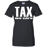 Tax-we-care---tax-march---Men/Women-T-Shirt-Custom-Ultra-Cotton-T-Shirt-Black-S