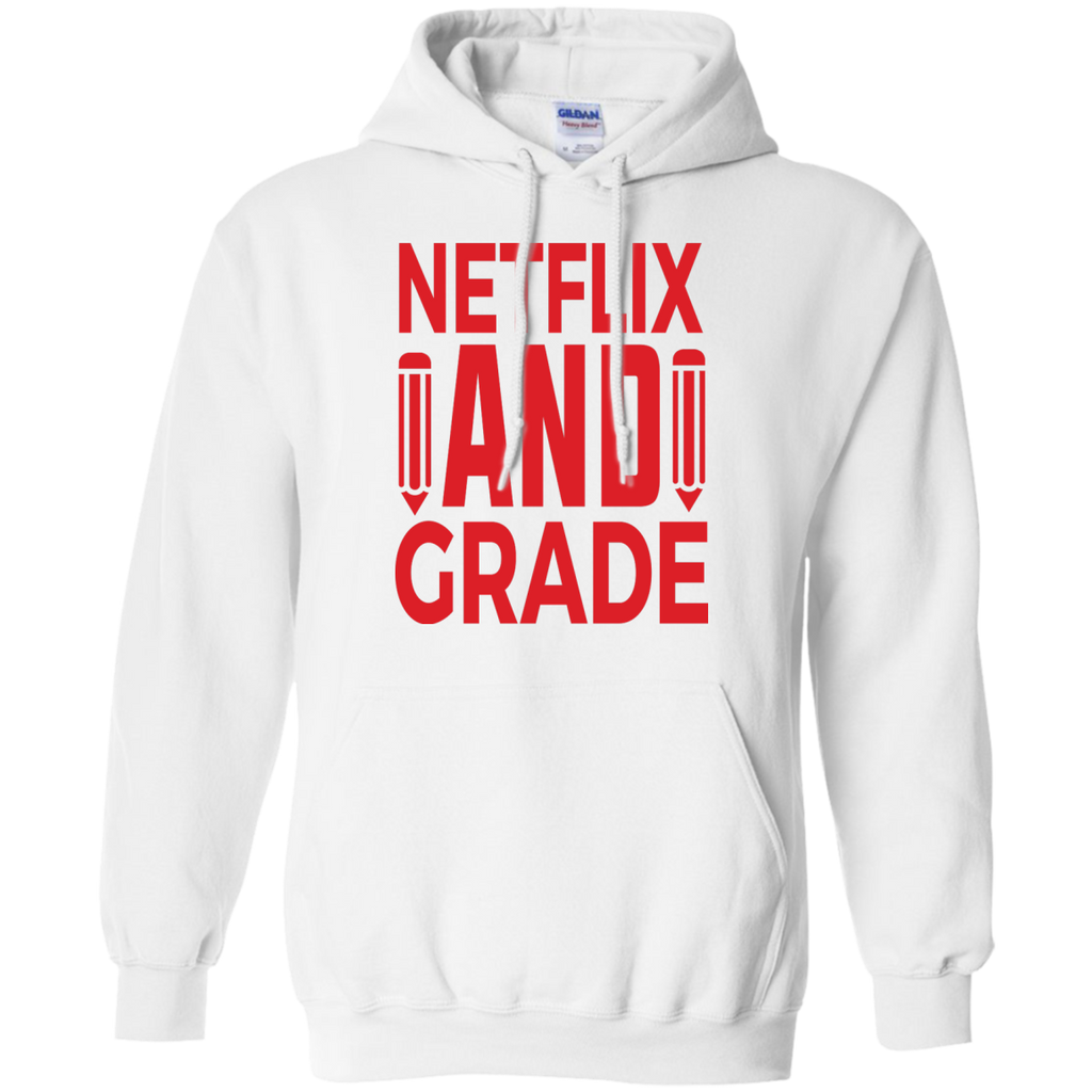 Netflix-and-Grade---teacher---Long-Sleeve-LS,-Sweatshirt,-Hoodie-LS-Ultra-Cotton-Tshirt-Ash-S