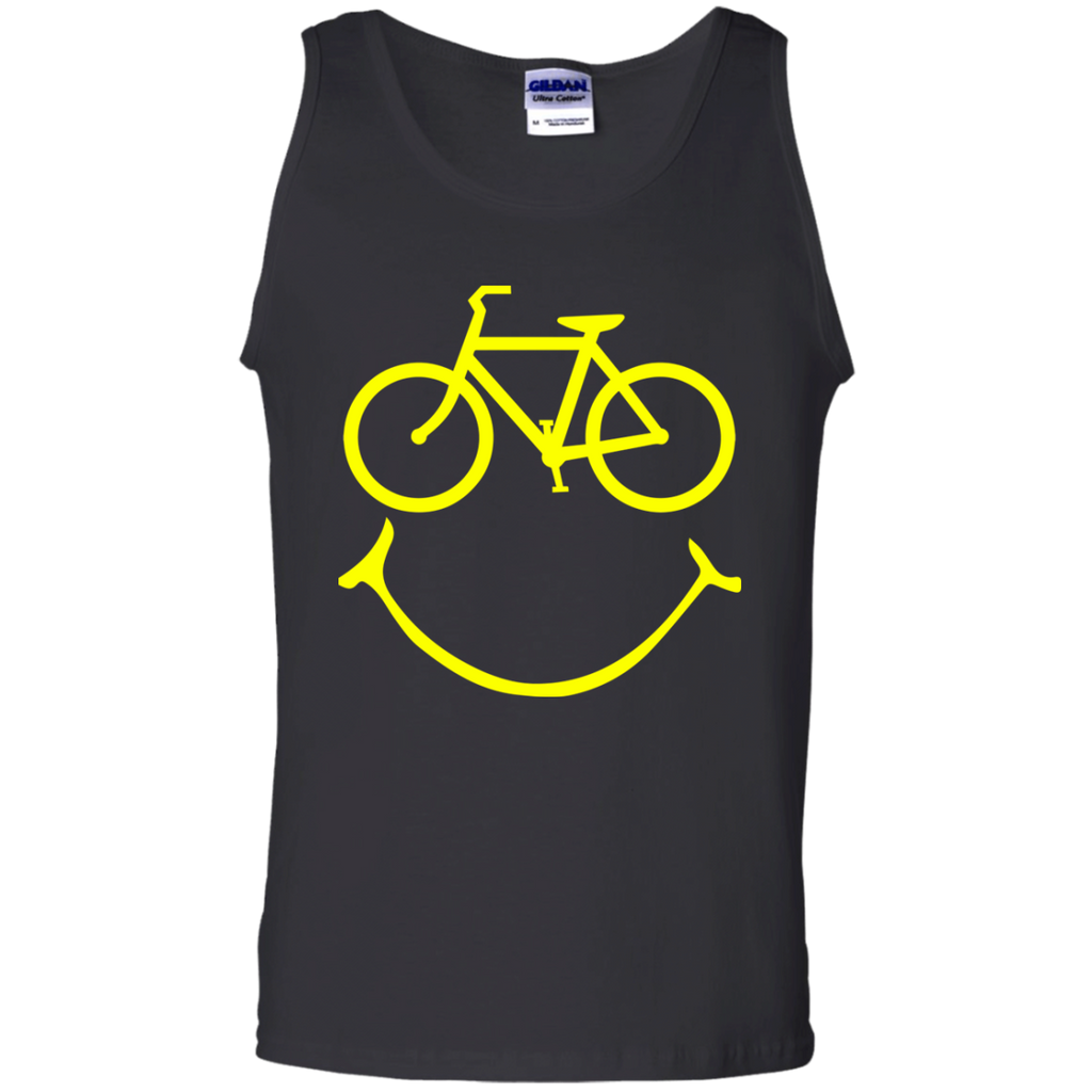 Smiley-bike-100%-Cotton-Tank-Top-TeeEver-Ash-S-