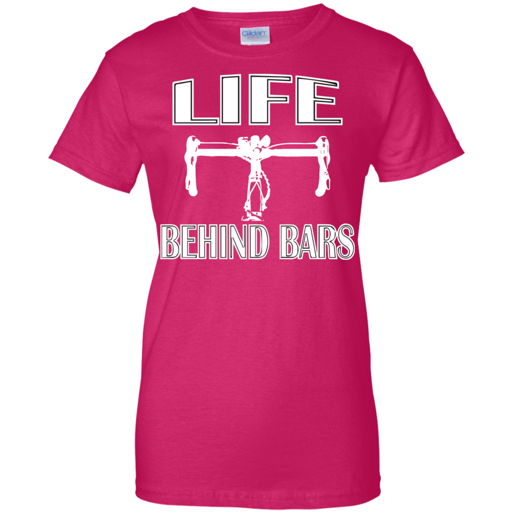 Life-Behind-bars-Ladies-Custom-100%-Cotton-T-Shirt-Black-XS-