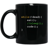 Funny Computer Science Programmer Eat Sleep Code MUGS