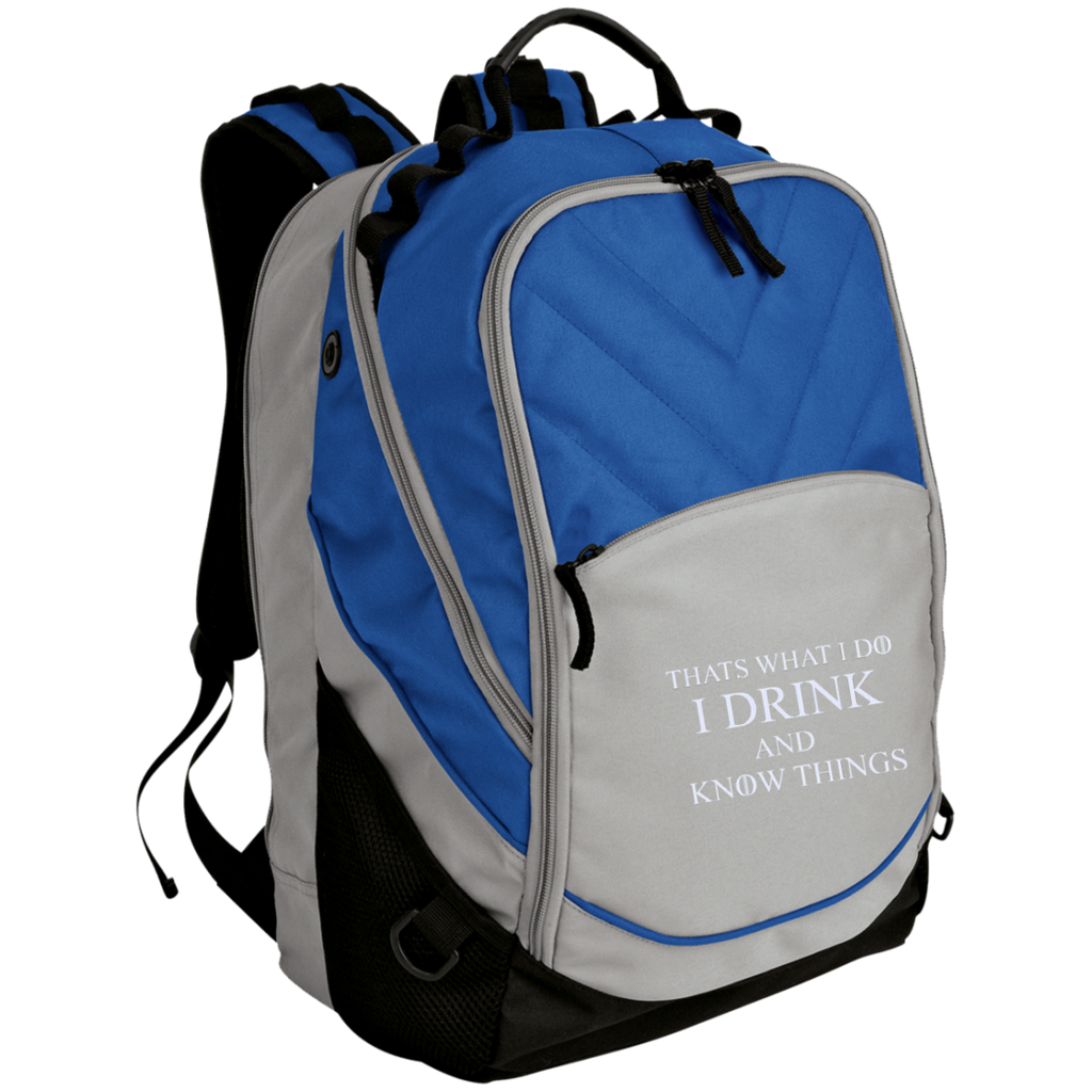 Thats-what-I-do-I-drink-and-know-things---Embroidered-Laptop-Computer-Backpack-Chili-Red/Black-One-Size-