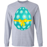Sky_Blue_Easter_Egg_with_Flowers_and_Yellow_Bow_PNG_Picture-LS-Ultra-Cotton-Tshirt-Sport-Grey-S-