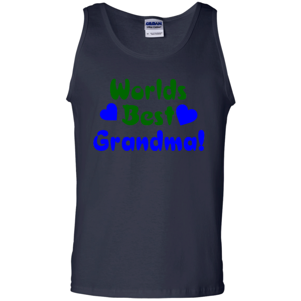 Worlds-Best-Grandma!-100%-Cotton-Tank-Top-Black-S-