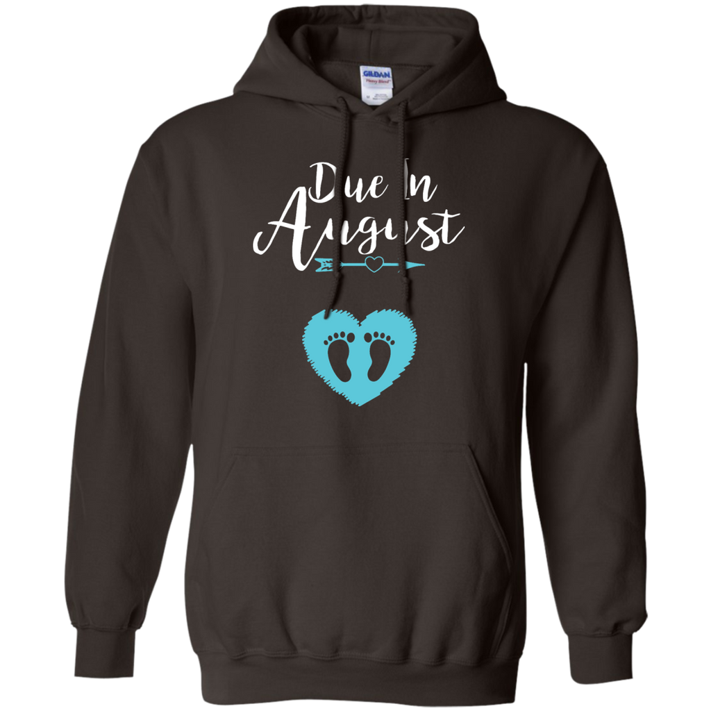 Due-In-August-Cute-Baby-Boy-Maternity-Announcement-Pullover-Hoodie---Teeever.com-Black-S-