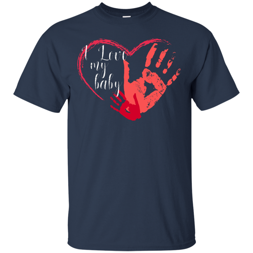 I-love-my-baby---for-mother,-mom,-for-dad-T-Shirt---Teeever.com-Black-S-