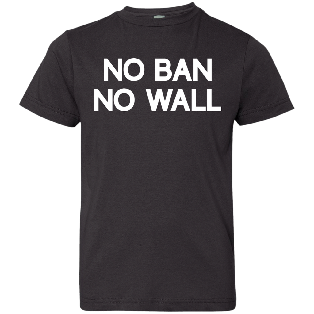 b567f1df2055 No Ban No Wall Anti Trump No Muslim Ban - shirt for kid – TeeEver