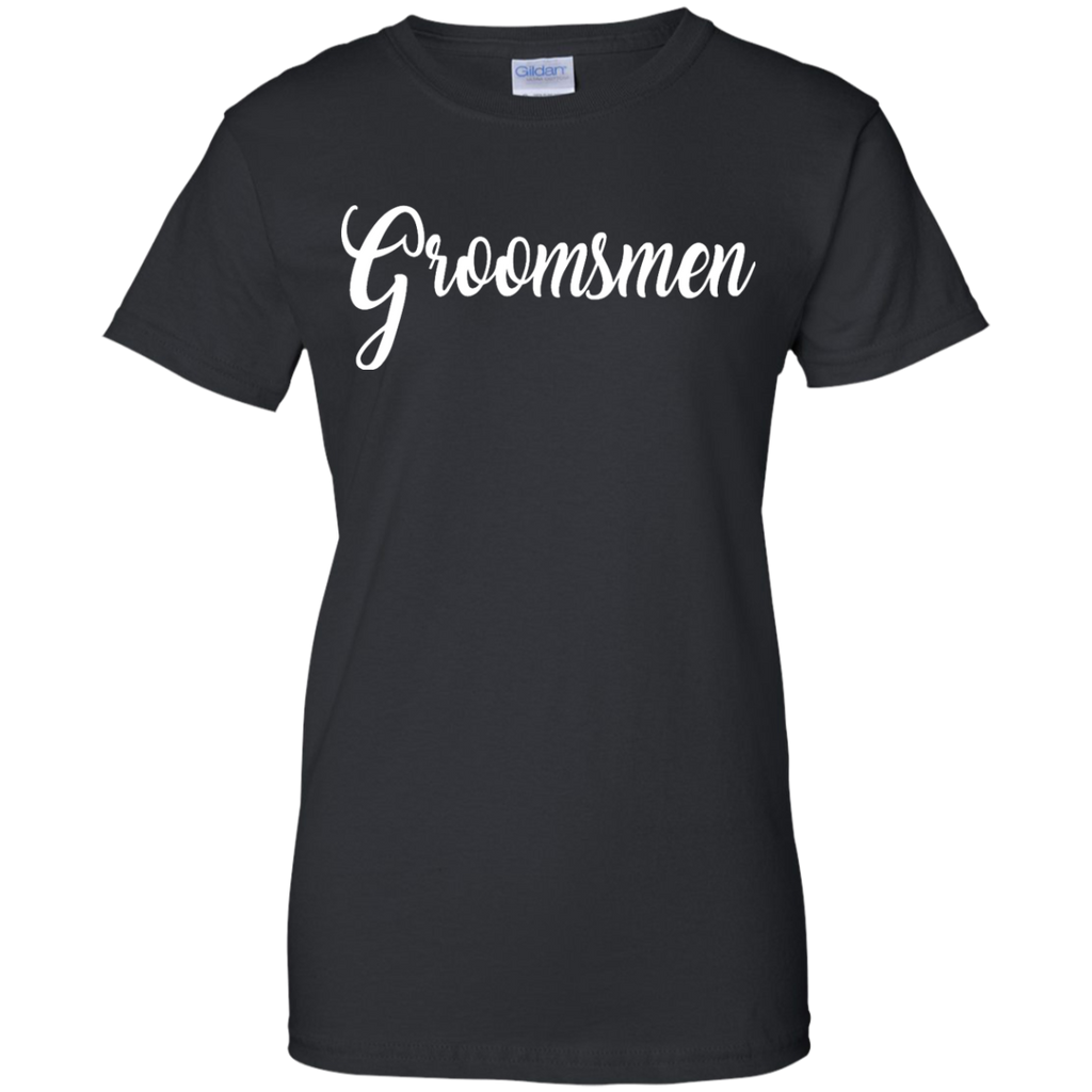 Groomsmen-Shirt-White-Wedding-Bride-Groom-Bachelor-Party-Ladies-T-Shirt---Teeever.com-Black-XS-