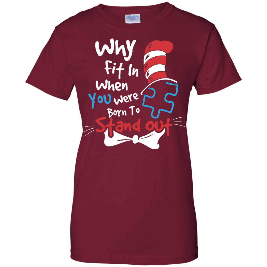 Why-Fit-In-When-You-Were-Born-To-Stand-Out-Autism---Men/Women-T-Shirt-Custom-Ultra-Cotton-T-Shirt-Black-S