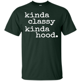 Funny-Kinda-Classy-Kinda-Hood---Popular-Sayings---Men/Women-T-Shirt-Custom-Ultra-Cotton-T-Shirt-Black-S