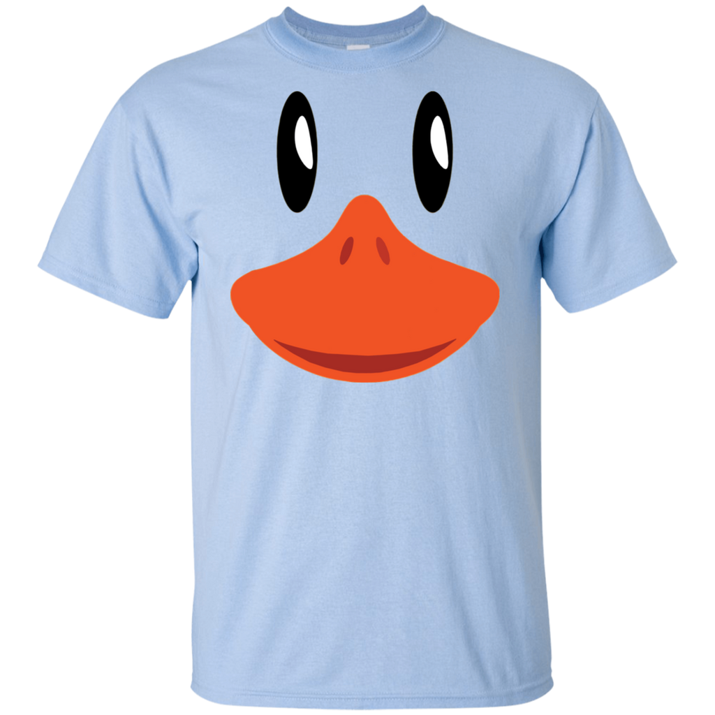 Cute-Duck-Face-T-Shirt-Awesome-Halloween-Costume-Gift-Kid's-T-Shirt-Sport-Grey-YXS-