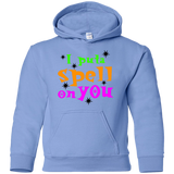 I-put-a-spell-on-you,-funny-halloween-Youth-Pullover-Hoodie-White-YS-