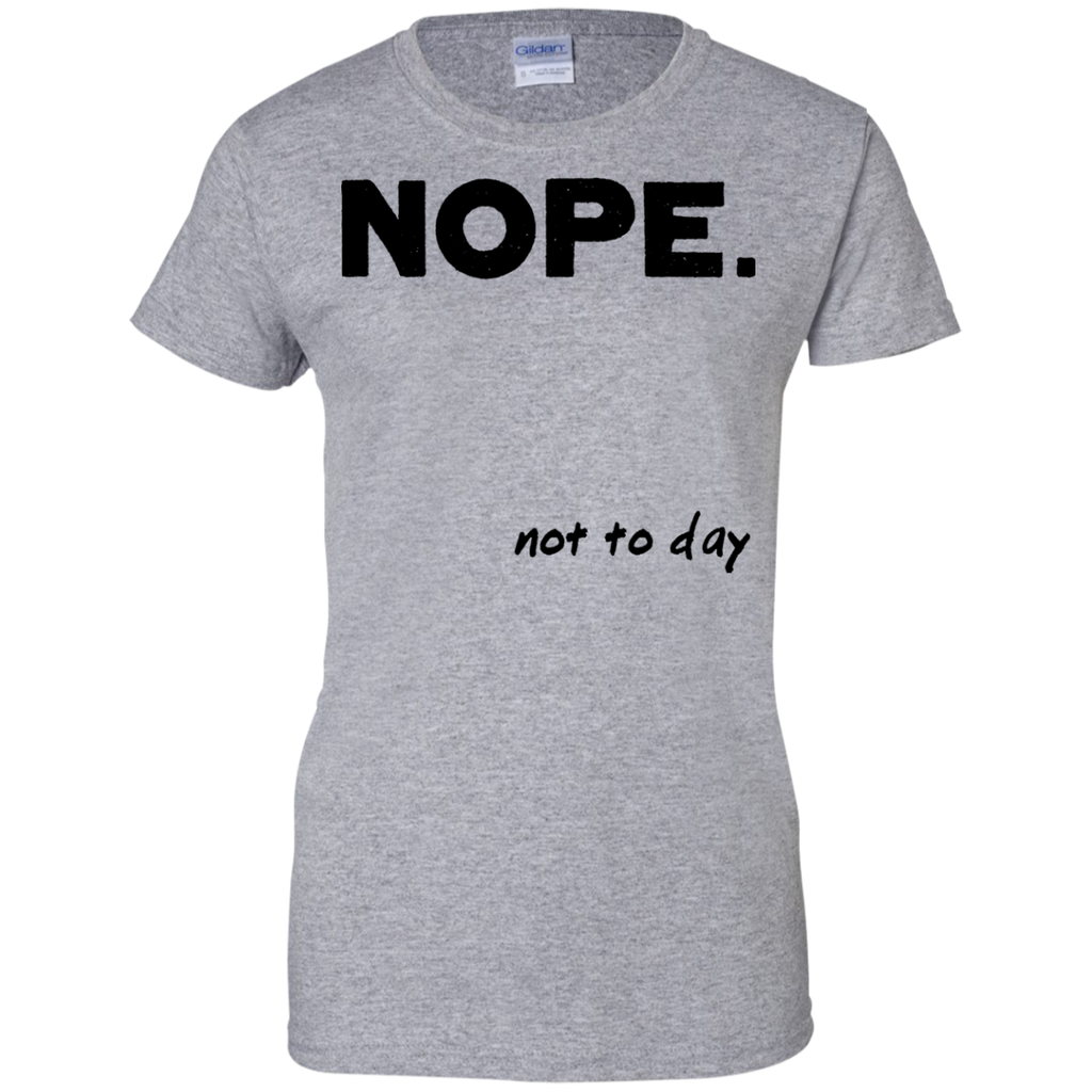 NOPE-Ladies-Custom-100%-Cotton-T-Shirt-Sport-Grey-XS-