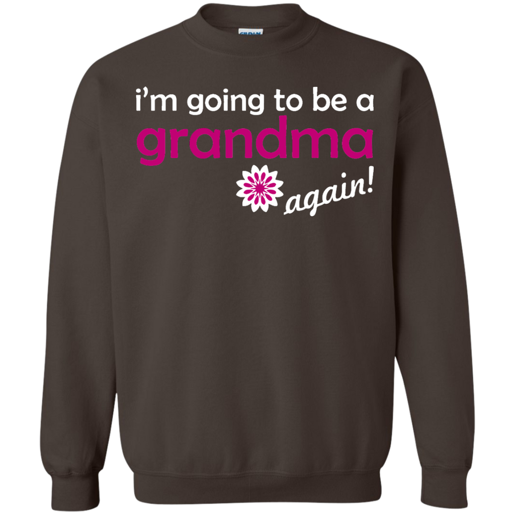 Pregnancy-Announcement---Grandma-Again-Pullover-Sweatshirt---Teeever.com-Black-S-