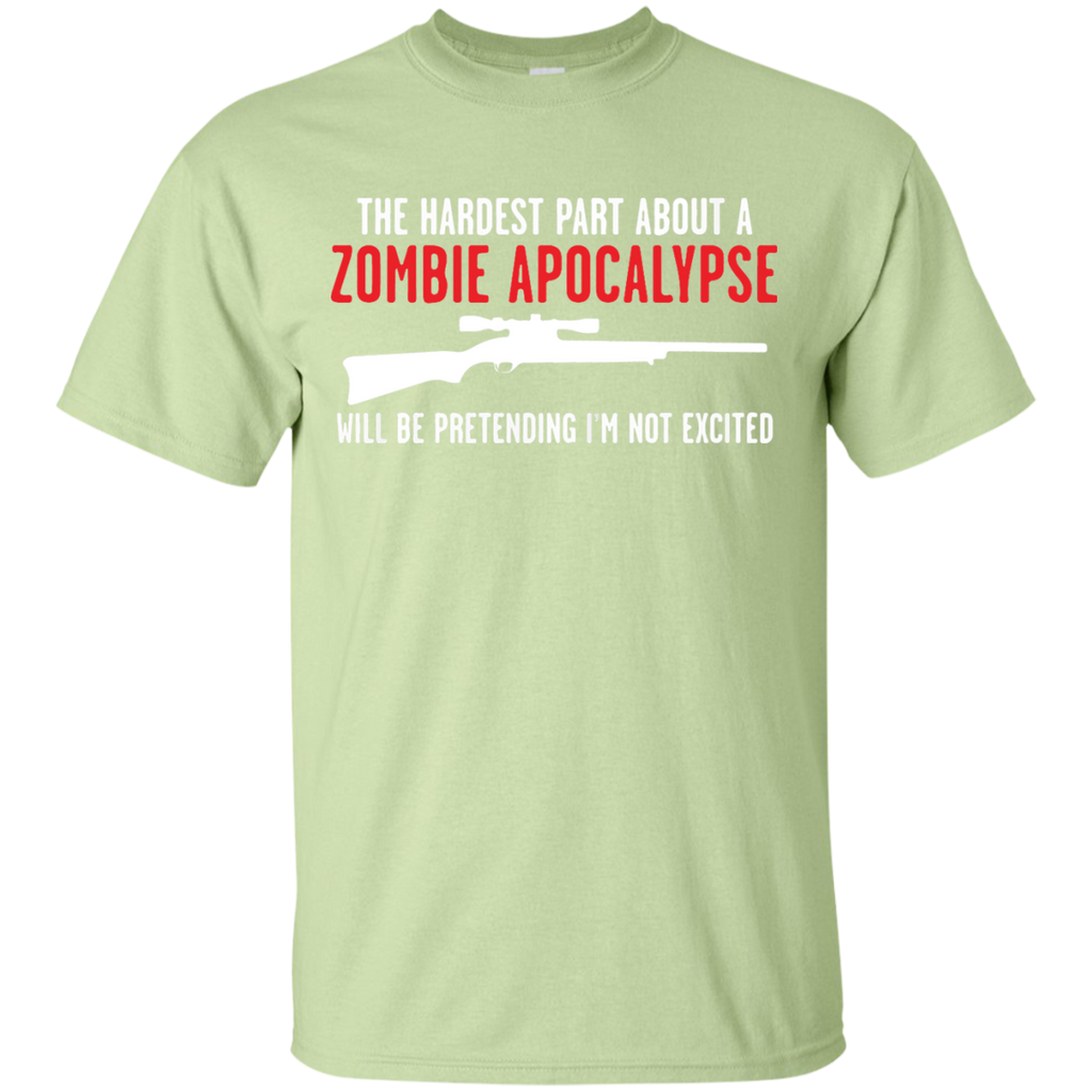 The-hadrest-part-about-a-zombie-apocalypse-Custom-Ultra-Cotton-T-Shirt-Sport-Grey-S-