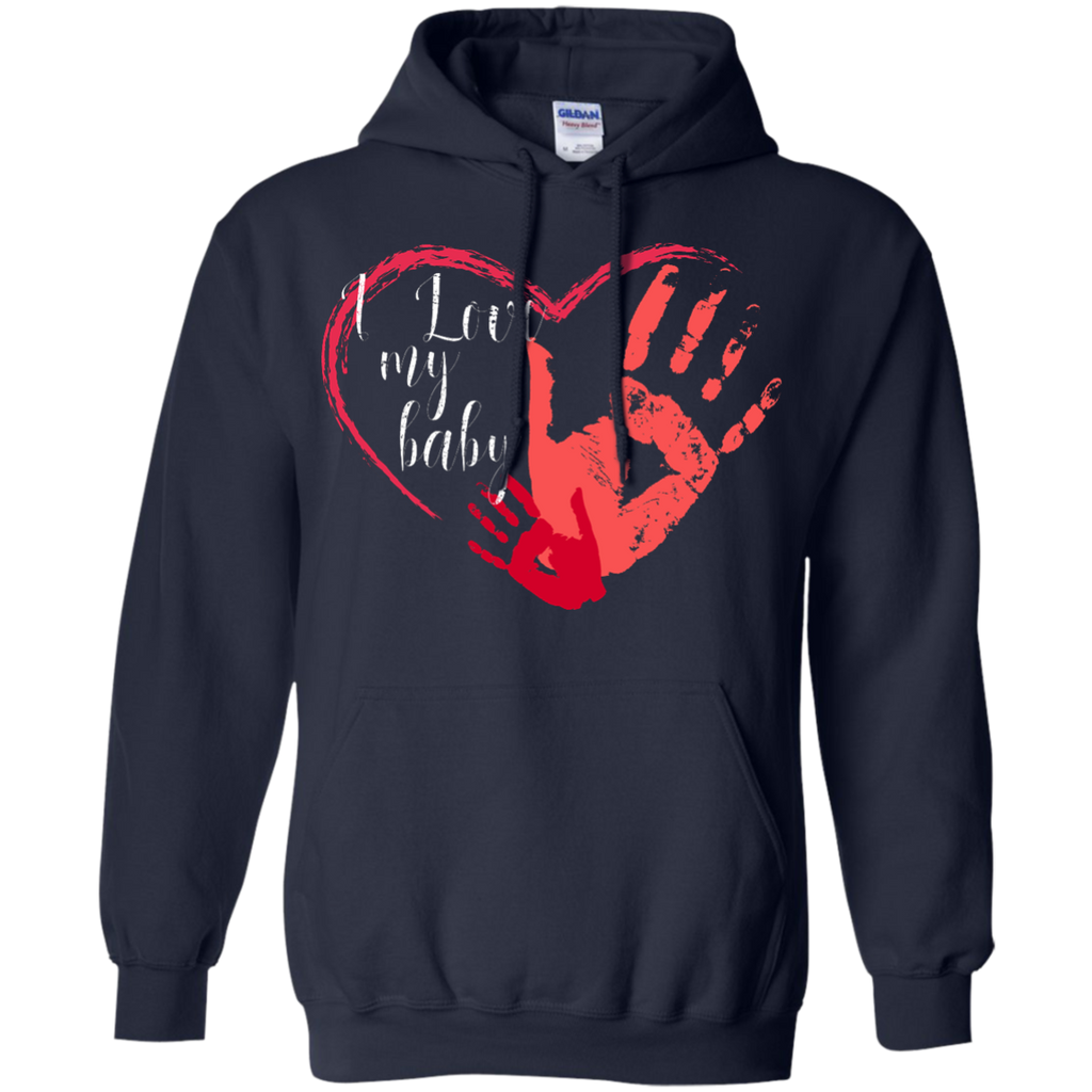 I-love-my-baby---for-mother,-mom,-for-dad-Pullover-Hoodie---Teeever.com-Black-S-