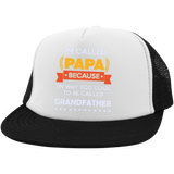 I'm-called-Papa-because-I'm-way-too-cool-to-be-called-Grandfather--Hat-with-Snapback-White/Black-One-Size-