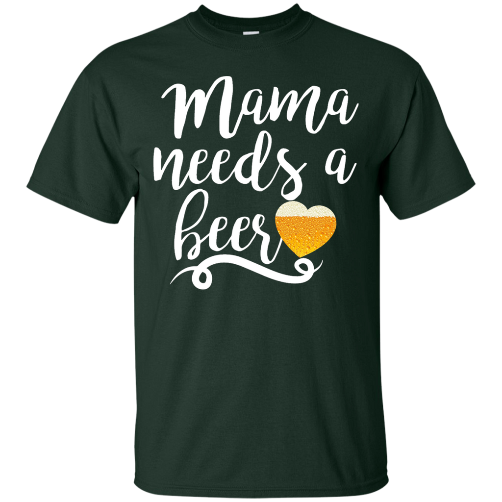 Women's-Mama-Needs-A-Beer-Funny-T-Shirt---Teeever.com-Black-S-