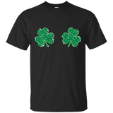 Womens Cool Shamrock Boobs Funny St. Patrick's Day Kid's T-Shirt