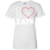 I-love-zayn-Ladies-Custom-100%-Cotton-T-Shirt-Sport-Grey-XS-