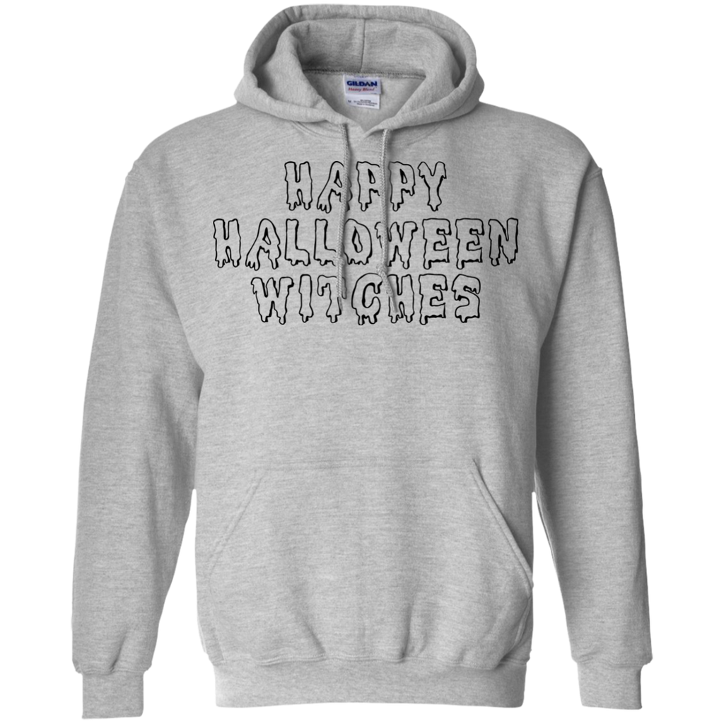 Happy Halloween Witches Pullover Hoodie 8 oz - Light Pink / S- Hoodies -TeeEver.com