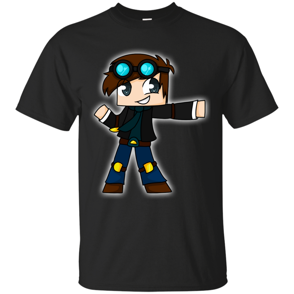 DanTDM---The-Diamond-Minecart-for-Youtuber-Gamer-Youth-Custom-Ultra-Cotton-Tee-White-YXS-