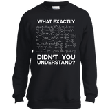 Chemistry---Funny-Science-Student-Chemist-Humor-YOUTH-Tshirt/LS/Sweatshirt/Hoodie-PC90Y-Port-and-Co.-Youth-Crewneck-Sweatshirt-Jet-Black-YXS