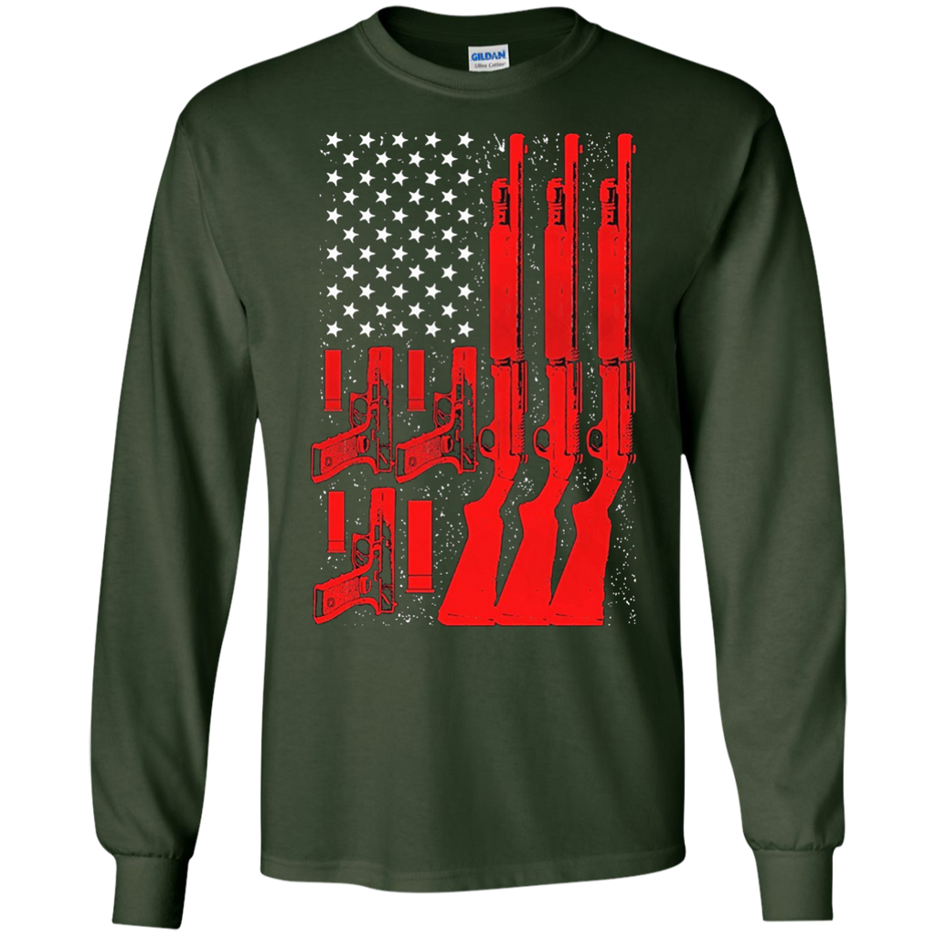 American-Flag-With-Gun---Gun-Lovers-LS-Tshirt---Teeever.com-Black-S-