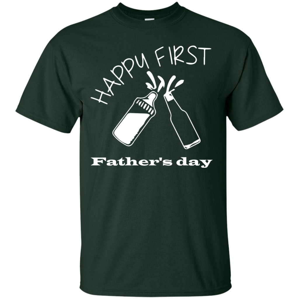 Happy-first-Father's-day-T-Shirt-Black-S-