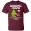 Cute-Dabbing-Around-The-Christmas-Tree-Santa-Swag-T-Shirt-Black-S-